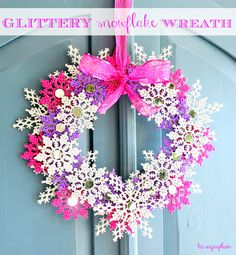 Glitter WINTER Wreath by hi sugarplum!, via Flickr