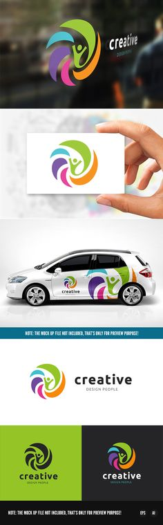 Creative People Logo by Super Pig Shop on @creativemarket