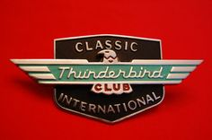 Vintage Classic Thunderbird Club Car Badge NOS Like New Condition