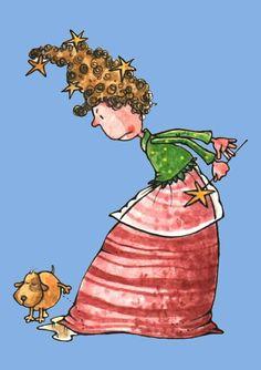 LUIS FILELLA ILUSTRACION > Oeps Cute Fairy, Happy Colors, Good Company, Dog Lovers, Illustration Styles, Illustrations, Painting, Doggies, Fox