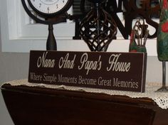 17.95 Personalized Custom Nana And Papa Sign Put Your by oakridgeprims, $17.95