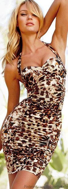 Leopard Dress  Visit www.lanyardelegance.com for elegant lanyards from Swarovski Crystal