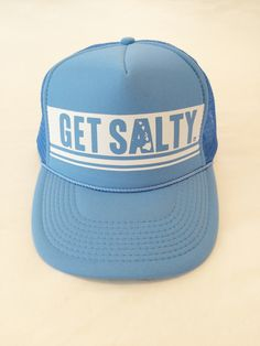 Have fun during your surf session or run with some sun protection with one of our exclusive to Sugarcane Get Salty trucker hats. Foam trucker with mesh back prominently features the Get Salty mantra. Adjustable size and ready to wear.