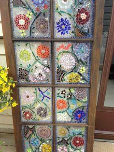 Floral Mosaic Window Garden Art