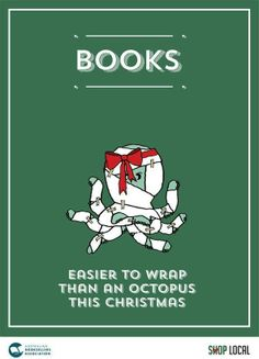 Books - Easier to wrap than an octopus....