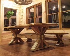 Ordinaire Farmhouse Trestle Table   Classic Rustic Design!