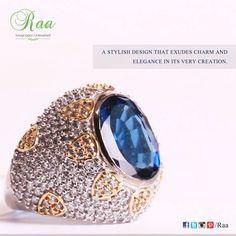 #ring #bluesapphire #diamond #yellowgold #jewelry #customized #raa #chennai