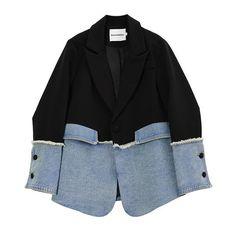Denim Blazer, Blazer Jacket, Mode Outfits, Fashion Outfits, Womens Fashion, Blazers For Women, Jackets For Women, Women Blazer, Looks Style