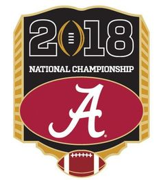 Buy this officially licensed 2018 College Football National Championship Pin - Alabama and gear up for the big game College Football Playoff, Alabama Football, American Football, Championship Football, Online Art Courses, College Costs, Right To Education, School Programs, National Championship