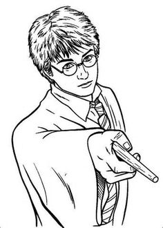 harry potter using magic power coloring pages harry potter coloring pages kidsdrawing free coloring pages online - Harry Potter Coloring Pages For Kids