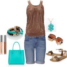 Love brown and aqua =)