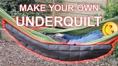 4 Simple DIY Hammock Underquilt Plans ⋆ Outside Rush Rv Camping Tips, Hiking Tips, Camping Survival, Survival Tips, Rv Tips, Camping Stuff, Camping Meals, Survival Skills, Homemade Hammock
