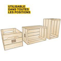 Caisse en bois fabriquée main en France  http://www.homelisty.com/ou-trouver-caisses-en-bois-cagettes/