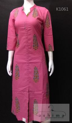Women's kurtis online: Buy stylish long & short kurtis from top brands like BIBA, W & more. Salwar Kameez Neck Designs, Churidar Designs, Kurta Neck Design, Kurta Designs Women, Blouse Designs, Printed Kurti Designs, Simple Kurti Designs, Cotton Kurtis Designs, Kurtha Designs