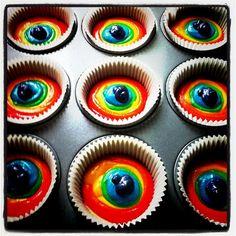 rainbow cupcakes  March 18, 2011