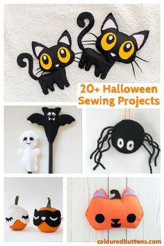 Easy sewing projects for Halloween that kidswill love. Halloween Sewing Projects, Sewing Projects For Kids, Crafts For Kids To Make, Sewing For Kids, Kids Crafts, Sewing Crafts, Easy Projects, Craft Projects, Craft Ideas