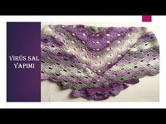 Virüs Şal Yapımı ( How to Make Virus Shawl Crochet ) - YouTube