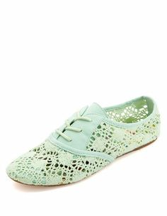 Lace-Up Crochet Oxfords: Charlotte Russe