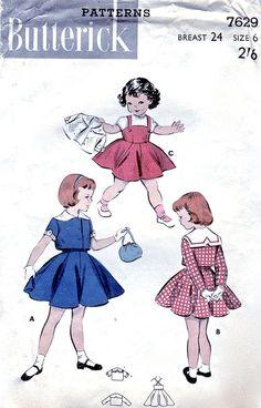 1950's Girl's Jumper & Jacket Unused Vintage by VintagePatternCo