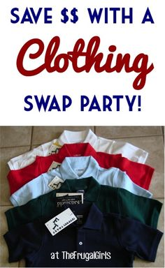 Tips to Save Money on Clothes with a Clothing Swap Party! ~ at TheFrugalGirls.com