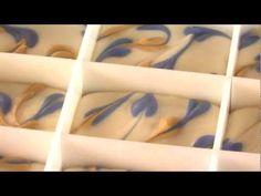 Make Swirled Hearts Cold Process Soap - YouTube
