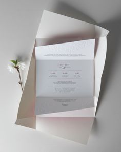 Blooming Brilliance invitation for the Emmanuel Masqueray Ball, designed by Jillian Frey & Marina Groh [KNOCK inc]