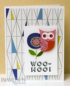 Woo Hoo Scandinavian Inspired card by Kim Kesti; Groovin With the Go to Gals: Crafting from the Heart