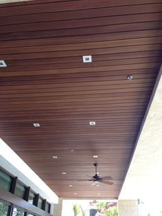Ceiling made of Resysta Composite Cladding, Wine Cellar, North America, Blinds, Deck, Ceiling, Exterior, Patio, Wood