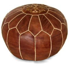PSSTTTT There's a spring sale happening over on www.luluandgeorgia.com! | Kenza Moroccan Pouf, Brown