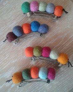 felt caterpillar hairclip  £3.00 each. www.flairforfair.co.uk