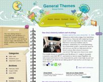 Cheerful Blues WordPress Theme