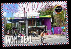 ¡Postal de Montreal! Seis magníficas columnas con los colores de la bandera gay presiden la estación de metro Beaudry, en la calle de St Catherine, es el corazón del Gay Village de Montreal. En esa misma calle encontrarás un Centro de Información Turística específico del Gay Village.  #veranogay #vacacioneslgbt #viaje #escapada #postal #lgbt #lgbti #gaylestv #montreal