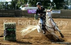 Barrel racing bitless on my Beautiful stallion DBMs White Boom.