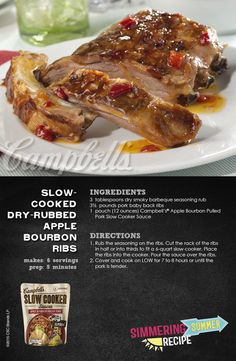 Indulge with Slow-Cooked Dry-Rubbed Apple bourbon Ribs and only a few simple steps!