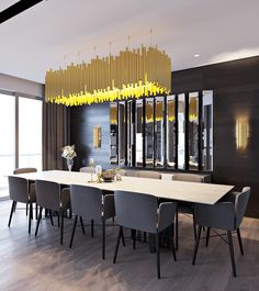 Looking for ideas to change your dining room lighting decoration ? This article is all about Dining Room Lighting Ideas Dining Room Sets, Dining Room Lighting, Dining Room Design, Design Tisch, Lamp Design, Dining Room Inspiration, Inspiration Design, Family Room Design, Modern Dining Table