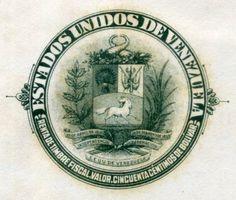 ESTADOS UNIDOS DE VENEZUELA el sello del papel sellado