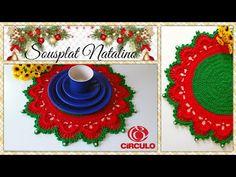 Sousplat Natalino em Crochê. Por Vanessa Marcondes . - YouTube Crochet Mandala, Christmas Decorations, Holiday Decor, Crochet Videos, Crochet For Beginners, Amigurumi Patterns, Doilies, Garland, The Creator