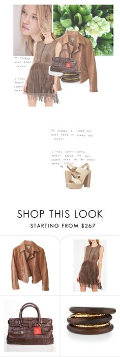 """""""Camel and brown"""" by gleniofficial ❤ liked on Polyvore featuring Roxana, Armani Collezioni, BCBGMAXAZRIA, NEST Jewelry and Michael Kors"""