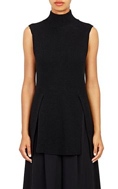 Proenza Schouler Elongated Sleeveless Sweater - Turtleneck - Barneys.com
