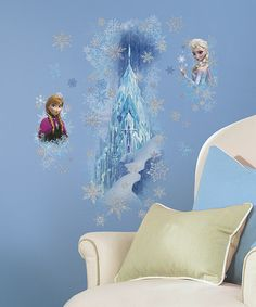 Look what I found on #zulily! Frozen Ice Palace Peel & Stick Giant Wall Decals by Frozen #zulilyfinds