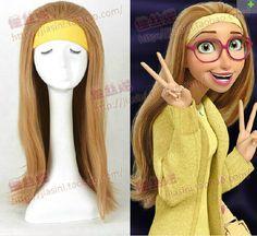 (Big Hero 6) Honey Lemon No Bangs And Long Straight Brown Hair Cosplay Wigs  #Unbranded #FullWig