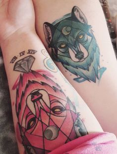 2123c75bb In some cultures wolves are noble warriors great leaders and . Tattoomaze ·  Wolf Couple Tattoos
