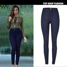Summer Fashion Hot Sale High Waist Slim Stretch Sweets Plus Size Skinny Pants [6365913540]