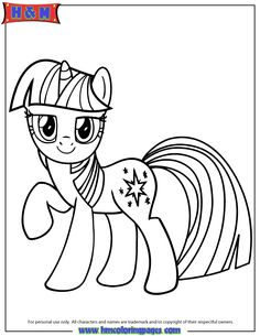 Unicorn Pony Twilight Sparkle Coloring Page My Little