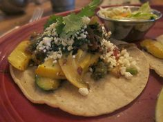 Grilled Summer Squash taco from The Painted Burro | The Economical Eater