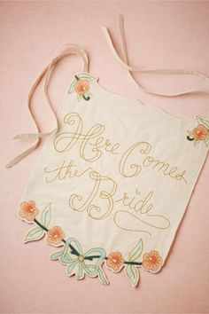 NEW!- Here Comes the Bride/Just Married Banner from BHLDN  #mwbridalstyle  #bhldnbride