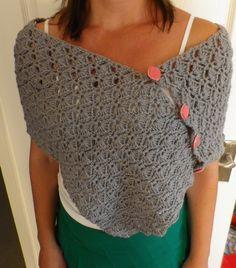 Carefully made by Mrs Robinson: A pretty poncho... or shawl?