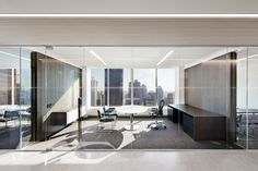 New York, NY Gramercy Property Trust tasked Fogarty Fingerwith designing their new headquarters on Park Avenue. Paying homage to the client's specialization in industrial properties, highly refine…