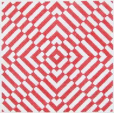 Illusions II hand painted needlepoint canvas -- Cat's Cradle design.