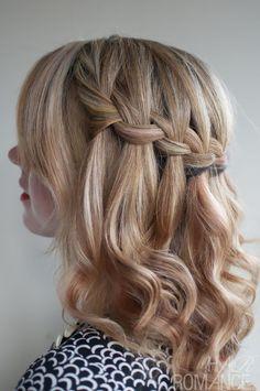 waterfall braid for short hair #braids #waterfallbraid